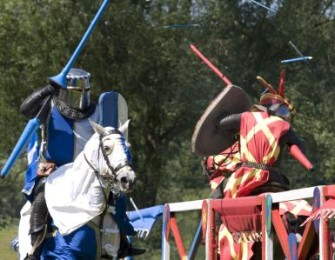 Knights clash at a Joust